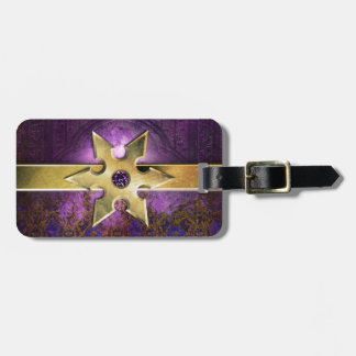 Pretty Purple Amethyst Medieval Ancient Tome Tag For Luggage
