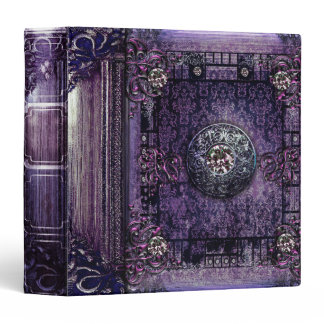 Pretty Purple Ancient Tome Medieval Magic Book Binder