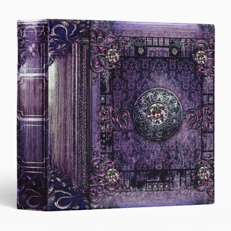 Pretty Purple Ancient Tome Medieval Magic Book Binder