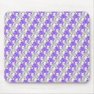 Pretty Purple and Clear Rhinestone Stripe Design Mouse Pad