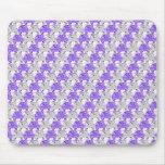 Pretty Purple and Clear Rhinestone Stripe Design Mousepads