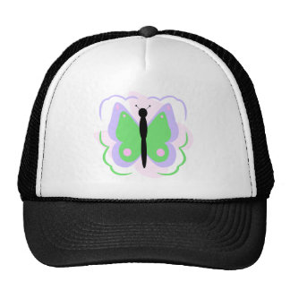 Pretty Purple And Green Butterfly Hat