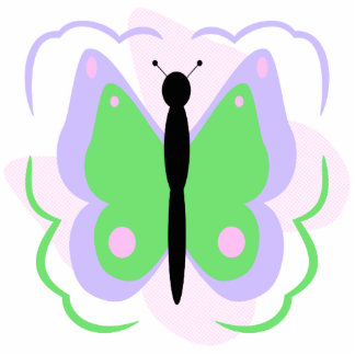 Pretty Purple And Green Butterfly Ornament