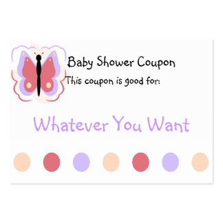 Pretty Purple And Pink Butterfly Coupon Business Card