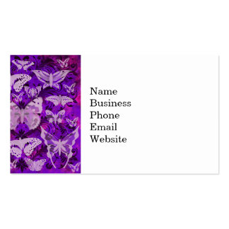 Pretty Purple and Pink Butterfly Pattern Business Cards