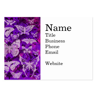 Pretty Purple and Pink Butterfly Pattern Business Card Templates