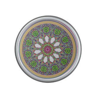 Pretty Purple and White Daisy Flower Tile Mosaic Bluetooth Speaker
