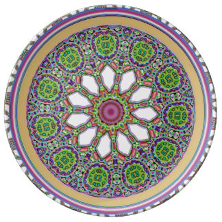 Pretty Purple and White Daisy Flower Tile Mosaic Dinner Plate