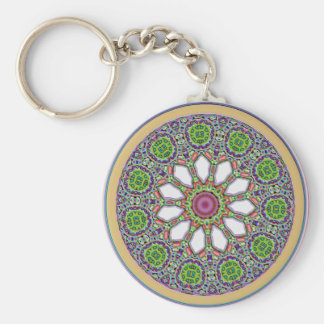 Pretty Purple and White Daisy Flower Tile Mosaic Keychain