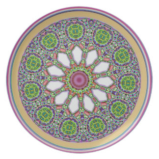 Pretty Purple and White Daisy Flower Tile Mosaic Plate
