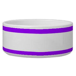 Pretty Purple and White Striped Pattern Bowl