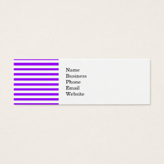Pretty Purple and White Striped Pattern Mini Business Card