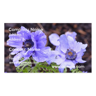 Pretty Purple Anemone Business Card Templates