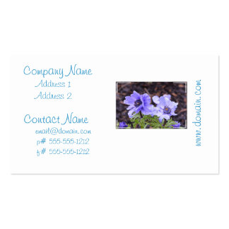 Pretty Purple Anemone Business Card