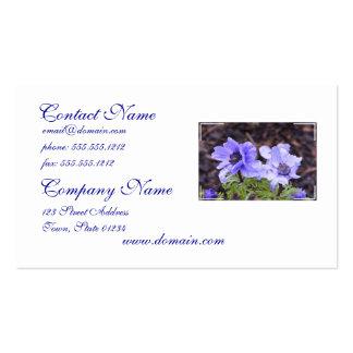 Pretty Purple Anemone Business Cards