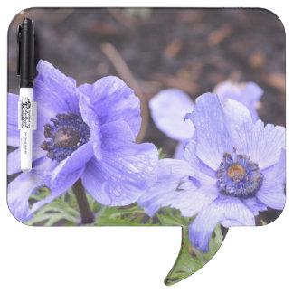 Pretty Purple Anemone Dry-Erase Boards