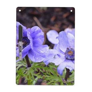 Pretty Purple Anemone Dry Erase Board