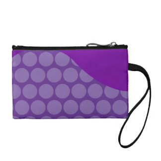 Pretty Purple Big Polka Dots Wave Pattern Gifts Coin Wallet