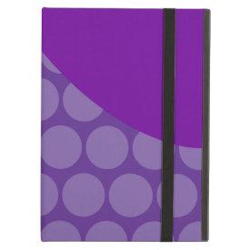 Pretty Purple Big Polka Dots Wave Pattern Gifts iPad Cases