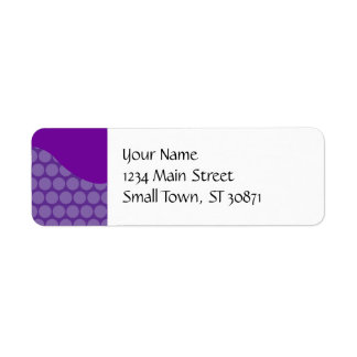 Pretty Purple Big Polka Dots Wave Pattern Gifts Label