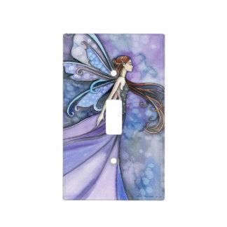 Pretty Purple Blue Fairy Fantasy Art Light Switch Cover