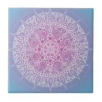 Pretty Purple/Blue Oriental Design Tile