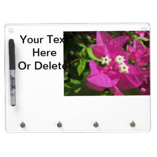 Pretty Purple Bougainvillea Dry Erase Board With Keychain Holder