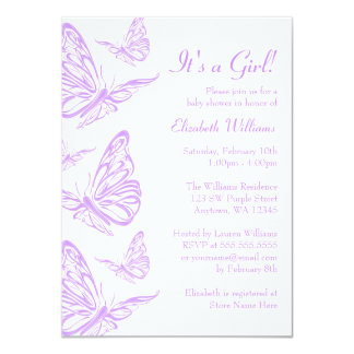 Butterfly Baby Shower Invitations Announcements Zazzle