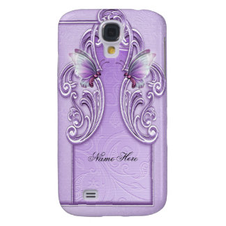 Pretty Purple Butterfly Lavender Lilac Galaxy S4 Covers