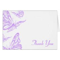 Pretty Purple Butterfly Thank You