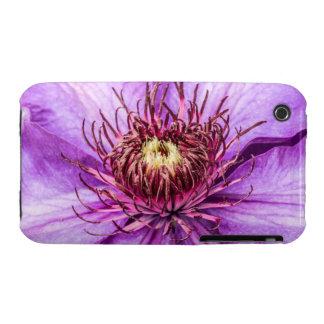Pretty Purple Clematis Flower iPhone 3 Case-Mate Case