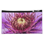 Pretty Purple Clematis Flower Cosmetic Bags