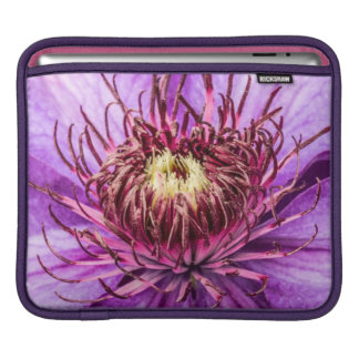 Pretty Purple Clematis Flower Sleeve For iPads