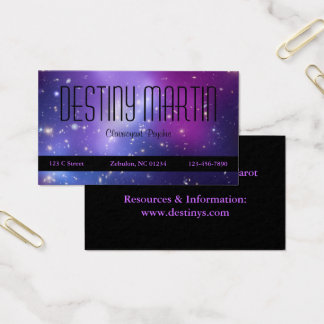 Pretty Purple Cosmic Metaphysical Business Card