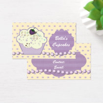 pretty purple cupcake business Cards
