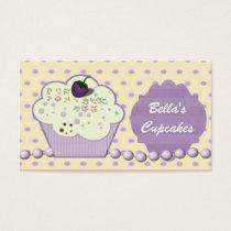 pretty purple cupcake business Cards