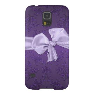 Pretty Purple Damask Samsung Galaxy S5 Phone Case