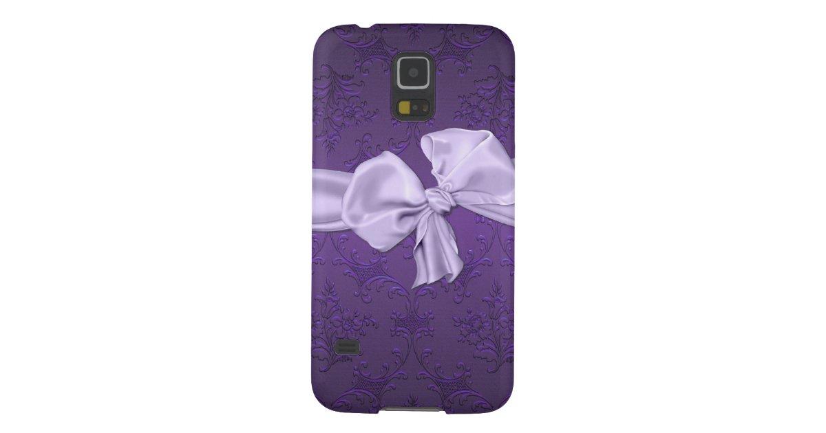 Pretty Purple Damask Samsung Galaxy S5 Phone Case | Zazzle.com