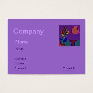 Pretty Purple Decorator>  Business Card
