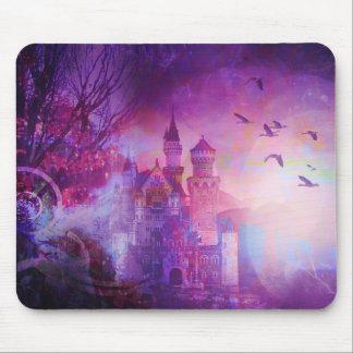 Pretty Purple Fairy Tale Fantasy Castle Mouse Pad