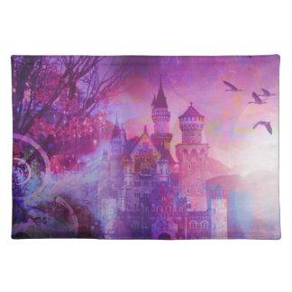 Pretty Purple Fairy Tale Fantasy Castle Cloth Place Mat