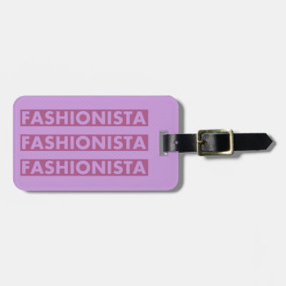 Pretty Purple Fashionista Text Cutout Bag Tag