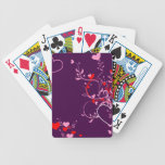 Pretty Purple Floral Design Card Decks