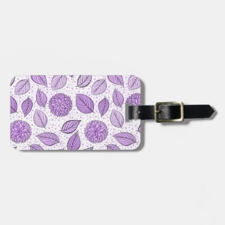 Pretty Purple Floral Pattern Luggage Tag