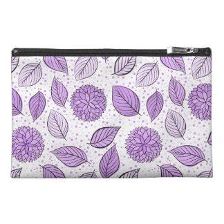 Pretty Purple Floral Pattern Travel Accessory Bag