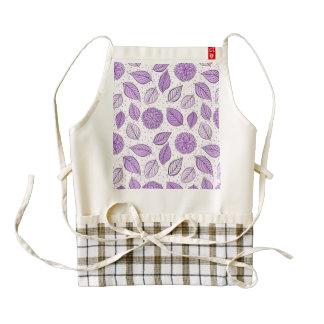 Pretty Purple Floral Pattern Zazzle HEART Apron