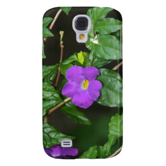 Pretty purple flower against dark background galaxy s4 cover