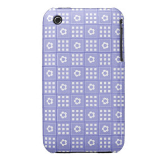 Pretty Purple Flower Patchwork Quilt Pattern Case-Mate iPhone 3 Cases