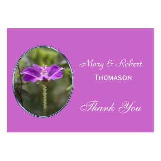 Pretty purple flower wedding favor thank you