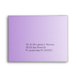 Pretty Purple Flower Wedding RSVP Envelope